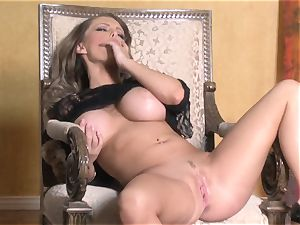steamy Jenna Presley playing with her appetizing rosy moist honeypot until she blows a load