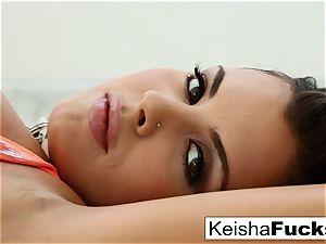 large boobed Keisha Grey teases and smashes