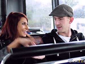 Madison Ivy and Jasmine Jae are pummeled on a bus