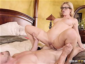 crazy towheaded Cherie Deville screwed doggy style