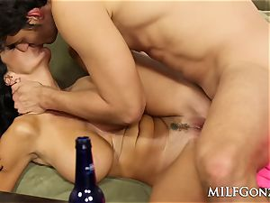 MILFGonzo Ava Adams sucks and plows her sons-in-law pal