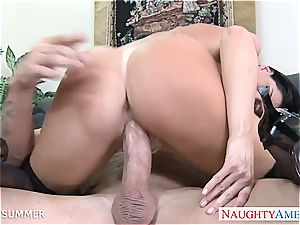 supreme black-haired India Summer pulverizing