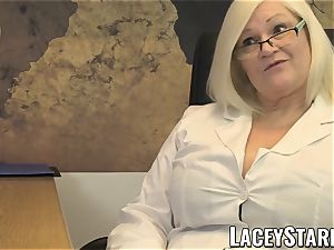 LACEYSTARR - GILF munches Pascal milky jizz after hookup