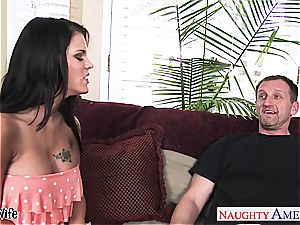 huge-chested wife Peta Jensen riding hard-on