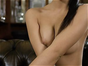 Bella Beretta being touched and flashes her marvelous body