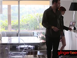 mischievous ginger cruises around the city before being banged firm and deep