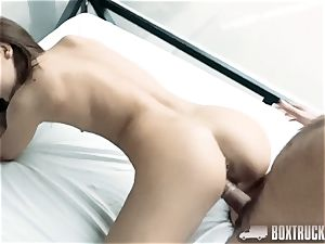 super hot nubile Alexis Brill Plays with a fuck stick in our bang-out Truck