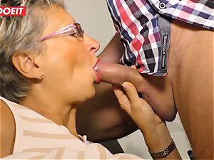 German granny luvs plumbing her Neighbor #LETSDOEIT