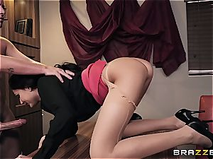 plowing steamy Ariana's butt on the office desk