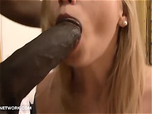 ash-blonde stunner cum facial cumshot first-ever Time multiracial hump