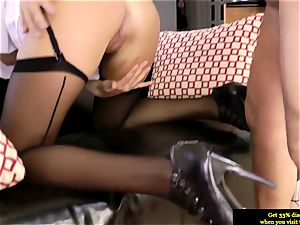 classy british stunner butt-fucked by senior boy and likes it