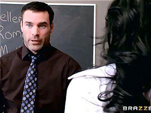 sex longing schoolgirl Valerie Kay nails the schoolteacher in the classroom