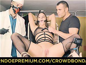 CROWD restrain bondage subordinated Amirah Adara first time bdsm