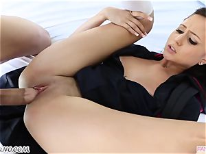 step-brother fucks his younger sis Ariana Marie after lessons
