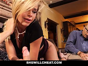 hotwife hubby watches Wifes snatch Get wrecked
