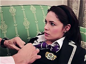 Ava blowing her favorite professor