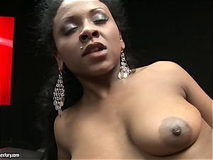 harsh Kathia Nobili pushes her cable on lollipop deep down her counterpart gullet