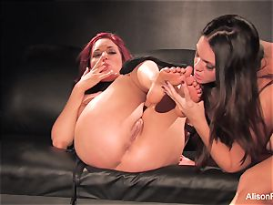 Alison Tyler and Jayden Cole fuck on the couch