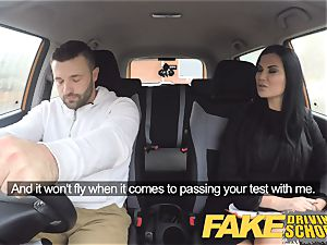 fake Driving college Jasmine Jae completely nude hump in car
