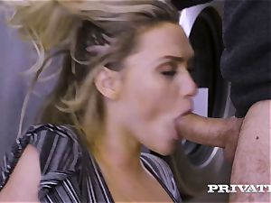 Private.com - Mia Malkova gets pummeled in the laundry