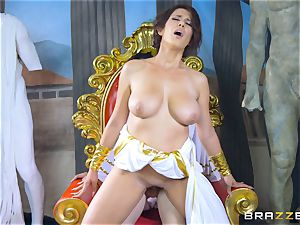 Ayda Swinger takes a tour back in time for meaty nubile penis
