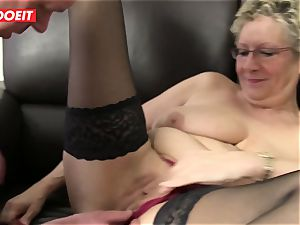 LETSDOEIT - horny grandma's Get Cream-pied by Neighbors