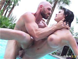 busty Peta Jensen - sloppy romp by the pool