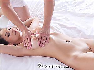 Nina North receives a sexual massage