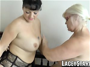 LACEYSTARR - Mature doctor drilled by interracial duo