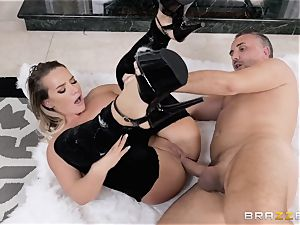 buttfuck hitting by the fireplace with Cali Carter
