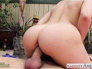 fabulous Mia Malkova doesn't care who witnesses her drilling
