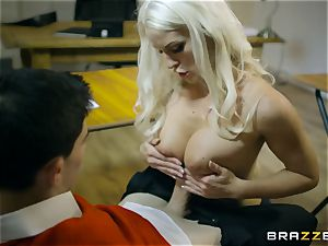 perfect body educator gets double penetration in the classroom