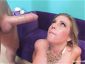 Samantha Saint gets her cock-squeezing pink poon porked