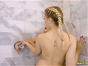 Sierra Nicole and Brice Bardot take a break to lick minge