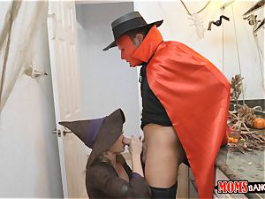 pipe sharing handles on Halloween with Cory chase and Anastasia Rose