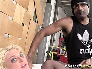 Leya Falcon Gets assfucked By A suspended black dude