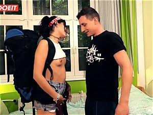 LETSDOEIT - ultra-kinky Traveler pummels fortunate German In Hostel
