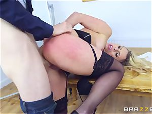 Mature Dean Brittany Bardot gets disciplined by her schoolgirl