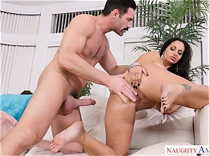 Ava Addams torn up on the sofa