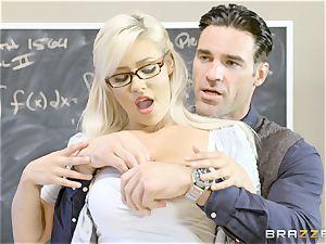 nasty student Kylie Page pummels her schoolteacher