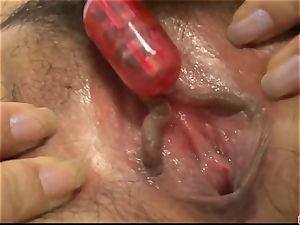 Iori Mizuki enjoys full inches of lollipop in her cock-squeezing hol
