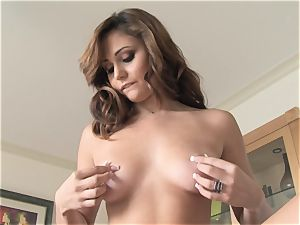 mouth-watering Ariana Marie softcore solo onanism