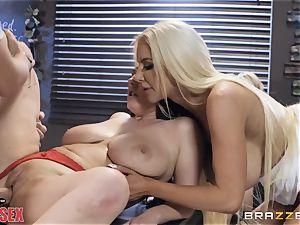 Angela milky and Nicolette Shea smashing together