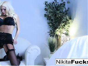 luxurious tease with hot russian mummy Nikita Von James