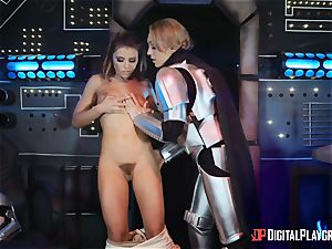 cooch luving lezzies Adriana Chechik and Lily Labeau dump on board