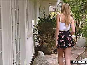 strict stepmom trains teenagers in fine romping