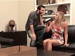 Samantha Saint pulverizes her sympathetic neighbor