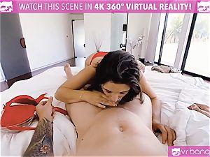 VR pornography - buxomy Abella Danger casting sofa get crazy
