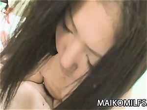 Kimi Nakao - Pretty JAV HouseWife enjoying A puny man rod