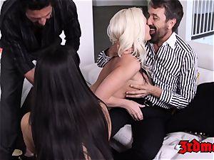 big-boobed cougar 4some fuckin' until orgasm